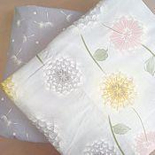 Ткани ручной работы. Ярмарка Мастеров - ручная работа Ткань Одуванчики и компаньон, сатин, 100% хлопок. Handmade.