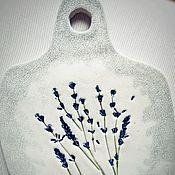 "Посуда handmade. Livemaster - original item Serving board ""Lavender"". Handmade."