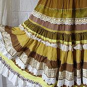 """Одежда ручной работы. Ярмарка Мастеров - ручная работа """"Солнышко""""летняя юбочка желтая миди.. Handmade."""