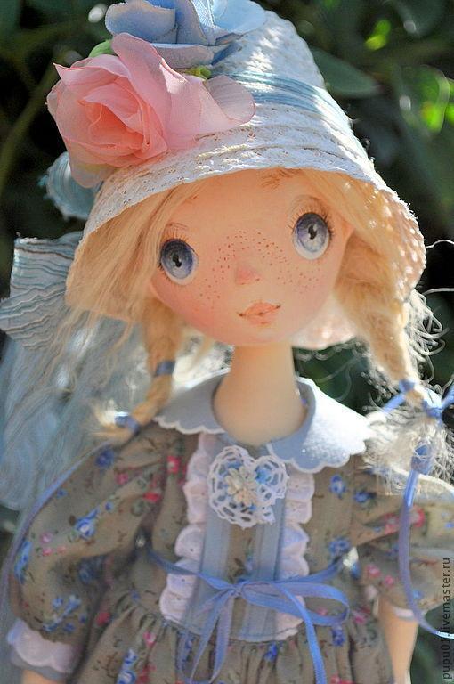 Коллекционные куклы ручной работы. Ярмарка Мастеров - ручная работа. Купить Коллекционная кукла ручной работы Любочка. Handmade. Голубой