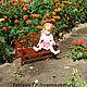 Кукольный дом ручной работы. Кукольная садовая скамейка. Фетисов Владимир (fetisov77). Ярмарка Мастеров. Куклы и игрушки