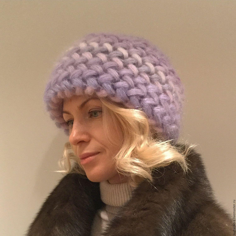 Пряжа Alize мохер классик - Как связать объемную шапку из