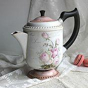 """Посуда ручной работы. Ярмарка Мастеров - ручная работа Кофейник """"Розовый"""". Handmade."""