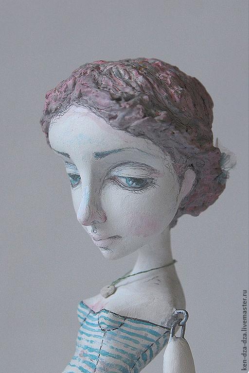 Коллекционные куклы ручной работы. Ярмарка Мастеров - ручная работа. Купить Люля. Handmade. Белый, подарок, акриловые краски