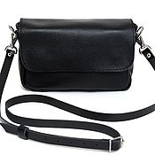 Сумки и аксессуары handmade. Livemaster - original item Women`s small leather black crossbody bag. Handmade.