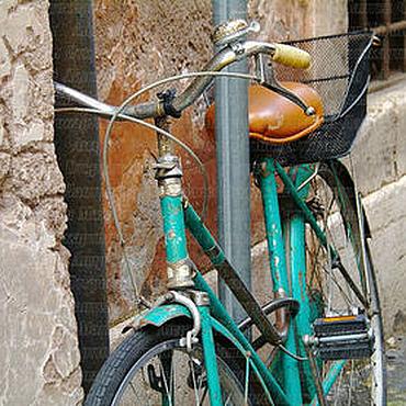 """Картины и панно ручной работы. Ярмарка Мастеров - ручная работа Фотокартина """"Римские каникулы. Бирюзовый велосипед"""". Handmade."""