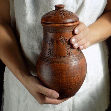 Посуда ручной работы. Ярмарка Мастеров - ручная работа Керамика традиционная. Кринка большая (объем 1,5 л.). Handmade.