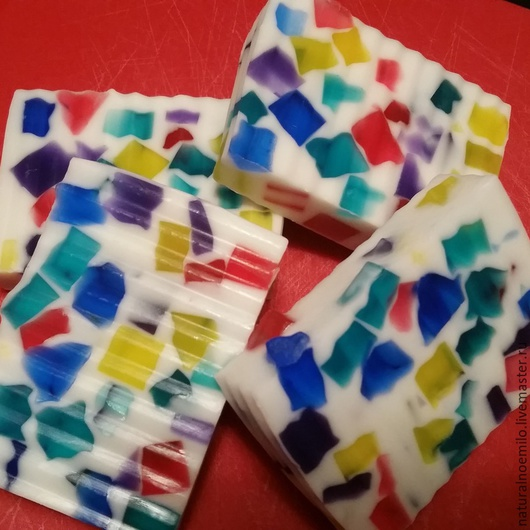 Мыло ручной работы. Ярмарка Мастеров - ручная работа. Купить конфети. Handmade. Разноцветный, мыло в подарок, масло виноградной косточки
