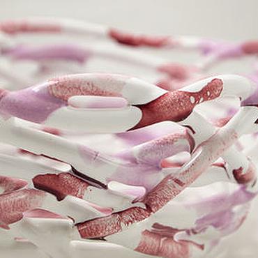 """Посуда ручной работы. Ярмарка Мастеров - ручная работа Конфетница """"Молочные реки кисельные берега"""". Handmade."""
