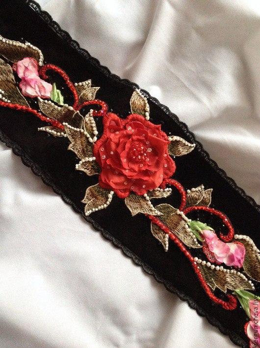 """Пояса, ремни ручной работы. Ярмарка Мастеров - ручная работа. Купить Пояс""""Розы Эдема""""в стиле DG. Handmade. Цветочный, акцент"""
