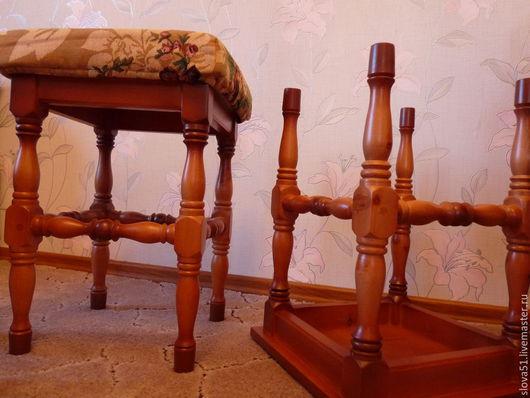 Мебель ручной работы. Ярмарка Мастеров - ручная работа. Купить Табурет точеный из дерева. Handmade. Коричневый, сосна, для бабушки, мягкий