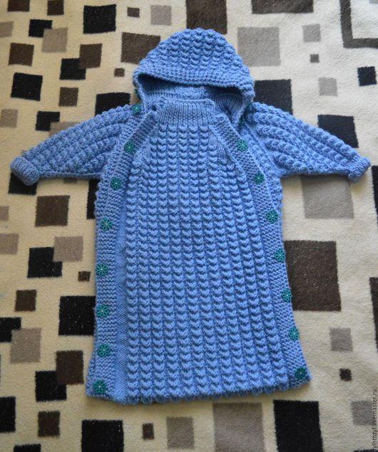 Для новорожденных, ручной работы. Ярмарка Мастеров - ручная работа. Купить вязаный конверт для малыша. Handmade. Комбинированный, вязание на заказ