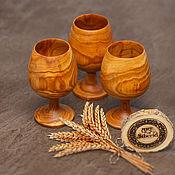 Посуда handmade. Livemaster - original item A set of wooden glasses 3#6. Handmade.