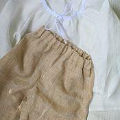 Комплекты одежды ручной работы. Ярмарка Мастеров - ручная работа Комплект льняной детский на лето, на пляж. Handmade.