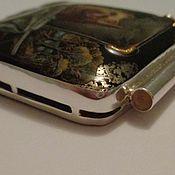 Материалы для творчества handmade. Livemaster - original item 925 silver frame with cord holder for any stone. Handmade.