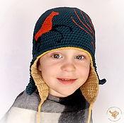 Работы для детей, ручной работы. Ярмарка Мастеров - ручная работа Детская вязаная двойная шапка для мальчика Конек-горбунок. Handmade.