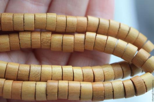 Для украшений ручной работы. Ярмарка Мастеров - ручная работа. Купить Желтое дерево, шайбы  7 мм. Handmade. Желтый