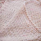 Для дома и интерьера ручной работы. Ярмарка Мастеров - ручная работа Толстый плед/ Плед крупной вязки. Handmade.
