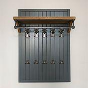 Для дома и интерьера handmade. Livemaster - original item Brigantine Clothes Hanger with Oak Shelf. Handmade.