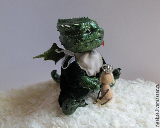 Сказочные персонажи ручной работы. Ярмарка Мастеров - ручная работа. Купить Дракоша. Handmade. Морская волна, дракон игрушка, войлок