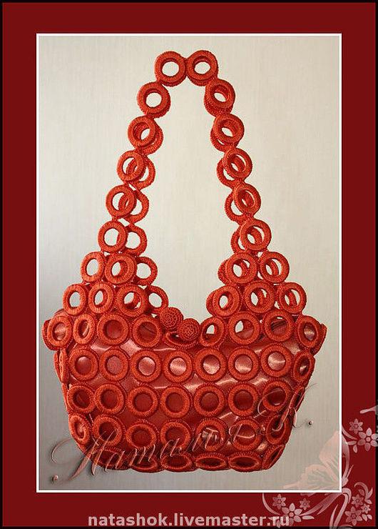 Женские сумки ручной работы. Ярмарка Мастеров - ручная работа. Купить сумочка Колечки. Handmade. Сумочка, искусственный шёлк