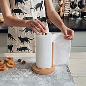 Посуда handmade. Livemaster - original item Cedar paper towel holder D17. Handmade.