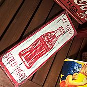 Картины и панно ручной работы. Ярмарка Мастеров - ручная работа Кока-Кола в стиле ретро. Handmade.