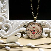 Украшения handmade. Livemaster - original item Pendant Dial Rose Watch Time Retro Vintage Vintage Watch. Handmade.