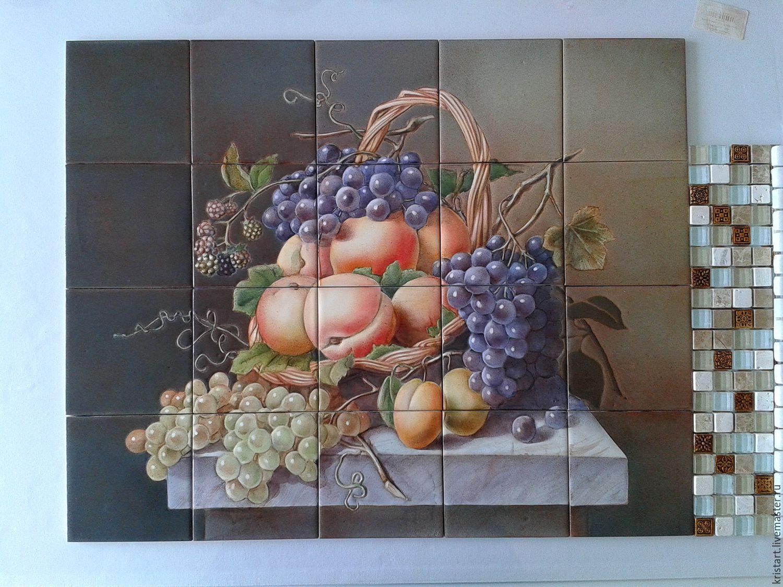 Керамическое панно фартук на кухню Голландский натюрморт, Картины, Москва, Фото №1