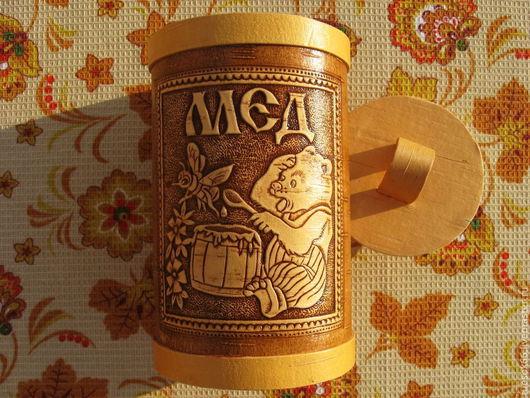 """Кухня ручной работы. Ярмарка Мастеров - ручная работа. Купить Туес медовый """"Мишка-воришка"""". Handmade. Туес, ручная работа"""