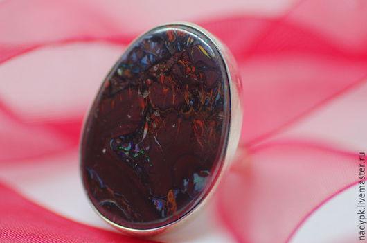 """Кольца ручной работы. Ярмарка Мастеров - ручная работа. Купить Кольцо с болдер опалом """"Мармелад в шоколаде"""", серебро. Handmade. Разноцветный"""