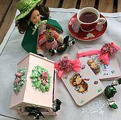 """Наборы ручной работы. Ярмарка Мастеров - ручная работа Набор для маленькой хозяйки """"В гостях у ежика"""". Handmade."""