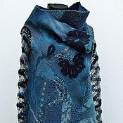 Одежда handmade. Livemaster - original item Felted cardigan Twilight turquoise. Handmade.