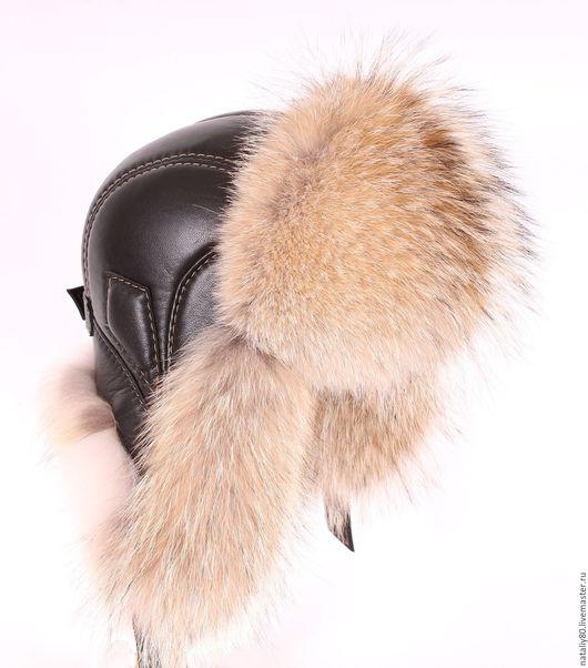 Шапки ручной работы. Ярмарка Мастеров - ручная работа. Купить Мужская  шапка ушанка из волка  (Канада) GL. Handmade.