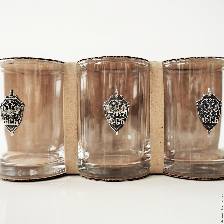 A set of stacks for three 'FSB. DEVOTION TO DUTY, DEVOTION TO THE FATHERLAND', Shot Glasses, Zhukovsky,  Фото №1