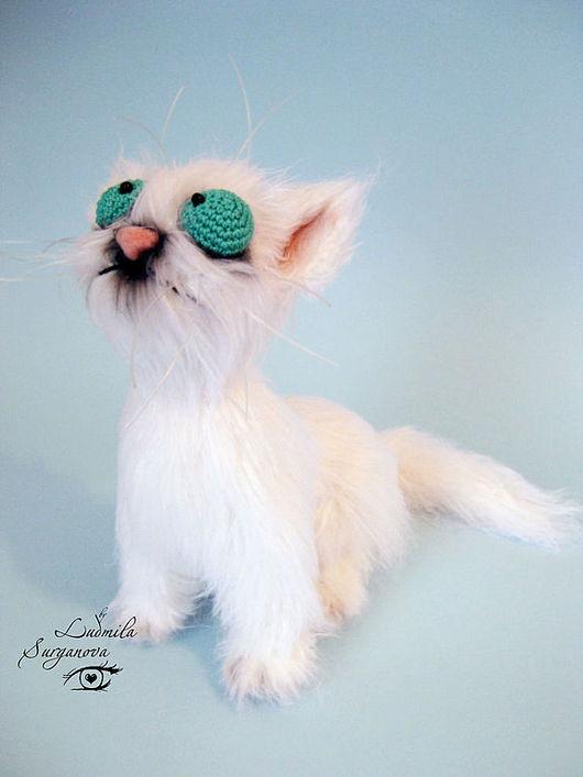 Игрушки животные, ручной работы. Ярмарка Мастеров - ручная работа. Купить Гаврюша. Handmade. Белый, коты и кошки, оригинальный подарок