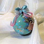 """Подарки к праздникам ручной работы. Ярмарка Мастеров - ручная работа Елочный шар """"Мятная глазурь"""". Handmade."""