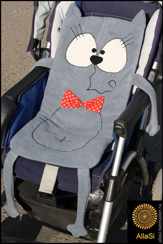 Игрушки животные, ручной работы. Ярмарка Мастеров - ручная работа. Купить Матрасик Кот №1 в коляску именной подарок новорожденному ручная работ. Handmade.