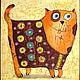 Животные ручной работы. Ярмарка Мастеров - ручная работа. Купить Котофеич в жилеточке  (батик панно). Handmade. Кот, картина