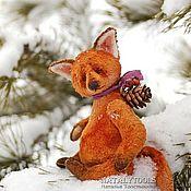 Куклы и игрушки ручной работы. Ярмарка Мастеров - ручная работа Лисенок Кристиан. Christian fox pup тедди лис. Handmade.