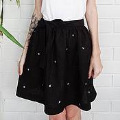 Одежда ручной работы. Ярмарка Мастеров - ручная работа юбка в звездочку с завязками. Handmade.