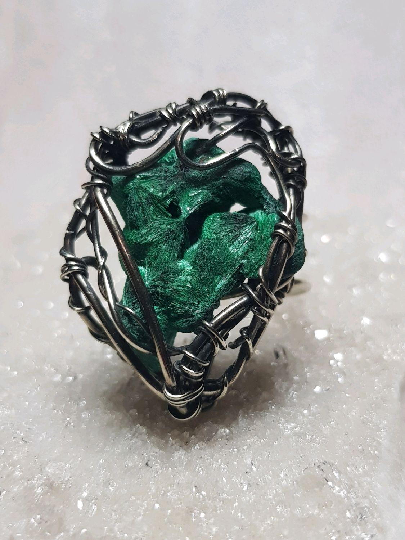 Ring with malachite plynovym, Rings, Voronezh,  Фото №1