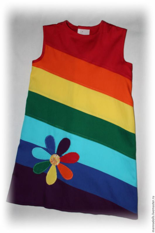 """Одежда для девочек, ручной работы. Ярмарка Мастеров - ручная работа. Купить Платье """"РАДУГА"""". Handmade. Комбинированный, Платье нарядное"""