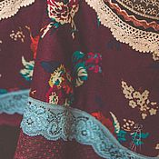 """Одежда ручной работы. Ярмарка Мастеров - ручная работа Юбка стиле бохо, """"Три пуговки"""". Handmade."""