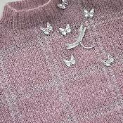 """Одежда ручной работы. Ярмарка Мастеров - ручная работа Свитер  """"Танец бабочек"""", вязанный из Anny Blatt, объёмный, тёплый. Handmade."""