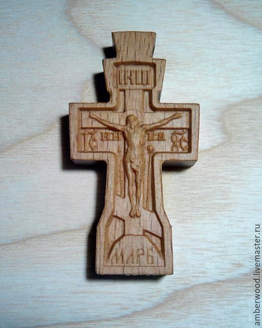Кулоны, подвески ручной работы. Ярмарка Мастеров - ручная работа. Купить Крестик из дерева. Handmade. Резьба, христианство, крестик из дерева