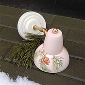 Для дома и интерьера handmade. Livemaster - original item Ceramic lamp (sconce) with engraved and painted. Handmade.