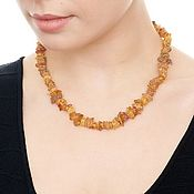 Работы для детей, handmade. Livemaster - original item Untreated Baltic raw amber beads necklace healing gift for women mom. Handmade.