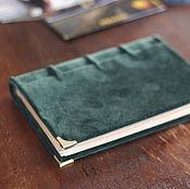 Фотоальбомы ручной работы. Ярмарка Мастеров - ручная работа Фотоальбом Зеленый Бархат/Green Velvet 12х17. Handmade.