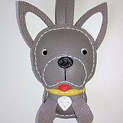 Брелок ручной работы. Ярмарка Мастеров - ручная работа Брелок собака кожа. Handmade.